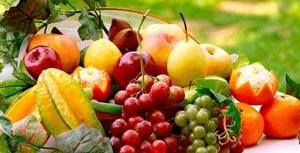 variedad de frutas saludables